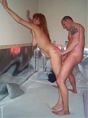 Horny mature couple caught doing tha nasty