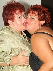 Agnes and Margaret are experienced older plumpers working together to share a young cock